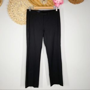 Brooks Brothers Size 4 Lucia Fit Stretch Wool Trouser Dress Pants Black Mid Rise